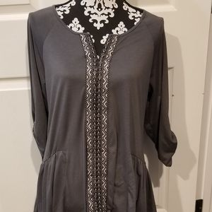 Style & Co Womens Aztec Tunic
